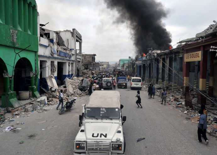 2010년 발생했던 규모7 아이티 대지진 당시의 모습. 이 지진으로 아이티에선 약 50만 명의 사상자와 180만 명의 이재민이 발생했다. - 위키미디어 제공